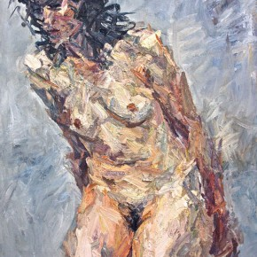 "090 Xie Dongming, ""Naked Woman"", 2011; oil on canvas, 100×80cm"