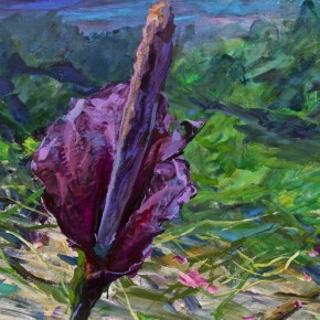 """098 Xie Dongming, """"Mountain Flower"""", 2008; acrylic on paper, 72×115cm"""