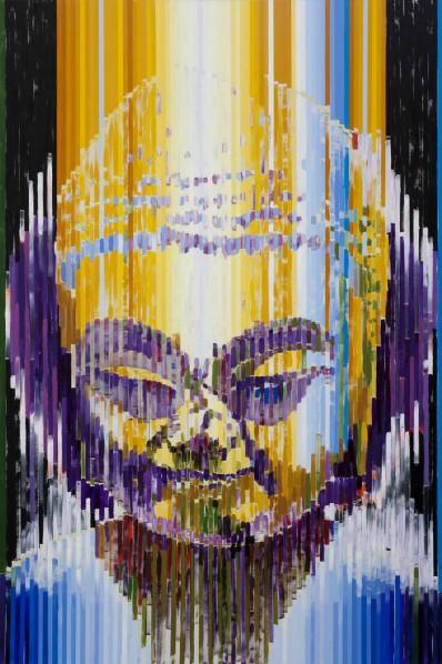 Buddha 1, 2012; Acrylic on canvas, 300x200cm