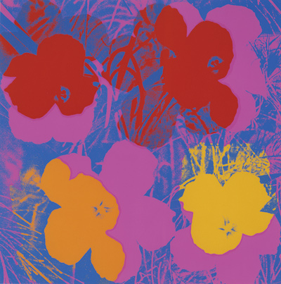 Flowers, 1970; Screen print on paper Collection of The Andy Warhol Museum, Pittsburgh © 2012 The Andy Warhol Foundation for the Visual Arts, Inc./  Artists Rights Society (ARS), New York