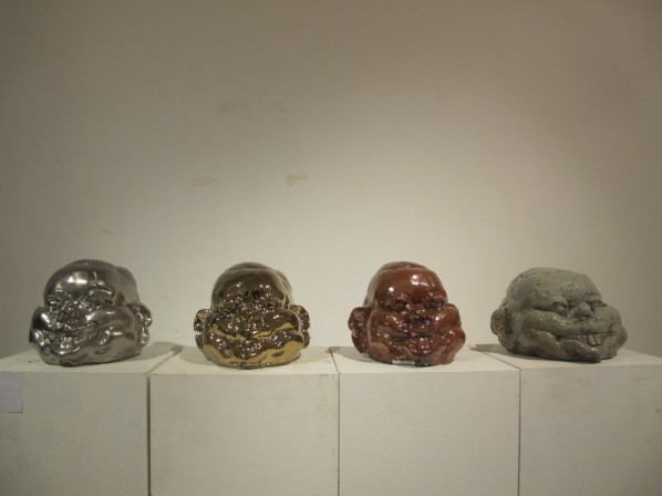 Geng Sen, Smilemare; ceramics, 29×24×20cm