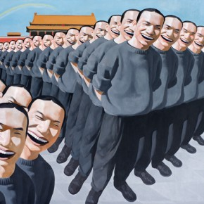 Great Joy, 1993, oil on canvas, 187 x 254 cm; Collection Turner Family, Hong Kong. © Yue Minjun