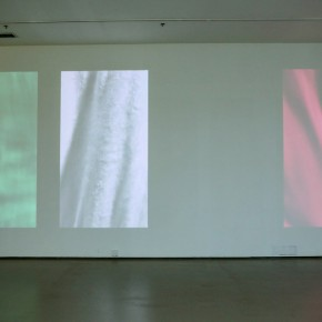 """Hu Xiaoyuan, """"I don't know how long you've been walking on, and I don't know where you're going"""", 2010; 4-channel video, 06'00''"""