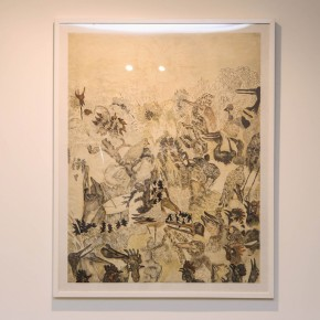 """Ji Yun-fei, """"On the High Branches"""", 2007; lithograph, 122.6× 94.3cm, edition of 40 (2)"""