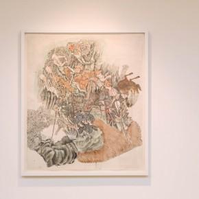 """Ji Yun-fei, """"Street Vendors"""", 2012; ink on xuan paper, 125× 107cm"""