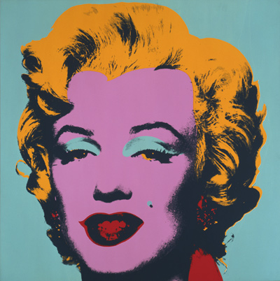 Marilyn Monroe (Marilyn), 1967; Screen print on paper Collection of The Andy Warhol Museum, Pittsburgh © 2012 The Andy Warhol Foundation for the Visual Arts, Inc./  Artists Rights Society (ARS), New York Marilyn MonroeTM; Rights of Publicity and Persona Rights:  The Estate of Marilyn Monroe, LLC www.marilynmonroe.com