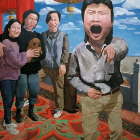 On the Rostrum of Tiananmen, 1992, oil on canvas, 190 x 200 cm; Collection Herman Iskandar, Jakarta. © Yue Minjun
