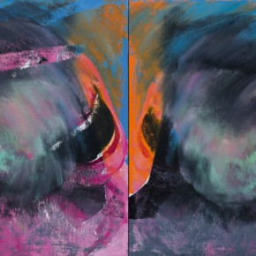 Overlapping Series-2012-06, 2012, oil on canvas, 80 x 60 cm (each); Collection of the artist, Beijing. © Yue Minjun