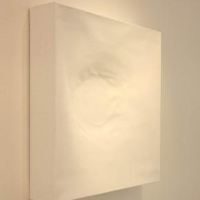Painting is painting is painting is painting is …depth Bianca Lei Sio Chong 80 x 80 x 15cm Acrylic on canvas 2012