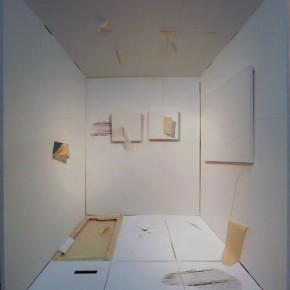 Painting is painting is painting is painting is …space Bianca Lei Sio Chong 200 x 160 x 50 cm Installation (acrylic on canvas, wood) 2011