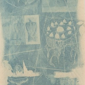 "Phan Hai Bang(Vietnam), ""By Accident"", 2012; blueprint(bamboo paper), 39x79cm"