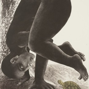 "Rakesh Bani(India), ""Silent Dialogue"", 2011; Cooperplate Etching, 70x50cm"