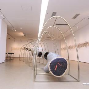 Shao Yinong, Woody Heart-Ten Years Tree Ring, 2012; installation, 660× 172cm