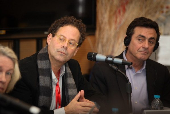 "Adam D. Weinberg(the left) at Sino-American Culture and Art Forum ""The Summit of Museum Directors"""