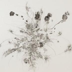 "Sou Pui Kun( Macau), ""Firework"", 2012; UV Curing Ink Intaglio, 93x100cm"