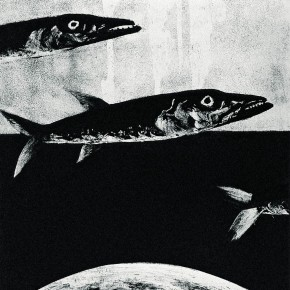 "Tan Ping, ""Flying Fish"", 1988; Etching"