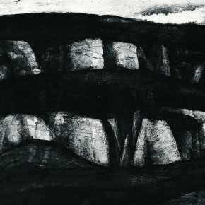 "Tan Ping, ""Mt. Tai Hang"", 1982; Etching, 20 x 50.6 cm"