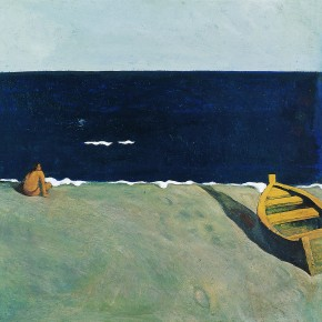 "Tan Ping, ""The Black Sea"", 1986; Acrylic, 49 x 49 cm"