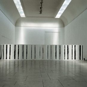"Tan Ping, ""Time"", 1993; installation, 100 x 1000 cm"