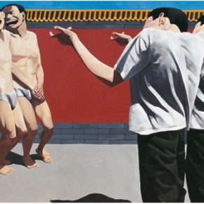 The Execution, 1995, oil on canvas, 150 x 300 cm; Private collection. © Yue Minjun