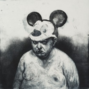 "Wong Cheng Pou(Macau), ""After the Darkness"", 2012; Cooperplate Etching, 90x86cm"