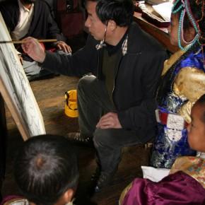 Worksites where Wu Changjiang did his Sketching at Yajing Sichuan where Tibetan People live in 2010 02 290x290 - Wu Changjiang