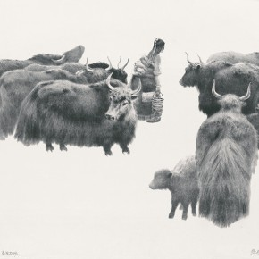 Wu Changjiang, Highlands Ranch, 1984; lithograph, 64×76cm