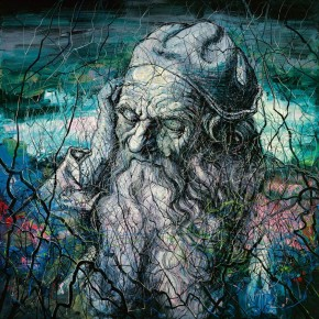 Zeng Fanzhi, Head of an Old Man, 2012; oil on canvas, 400 x 400 cm