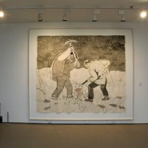 "Zhang Enli, ""Untitled"", 2005; Acrylic on paper, 235×275 cm"