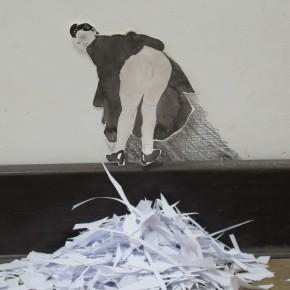 """15 Wang Hailong, """"Pulp Fiction"""", 2011, painting and installation"""