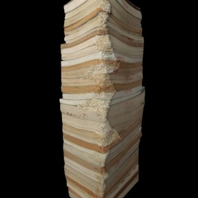 """18 Wu Wei, """"Books in the Library"""", sculpture, 15x20x60cm, papers"""