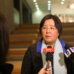 27 An Yuanyuan, Chief of Art Department, Ministry of Culture was interviewed by journalists.