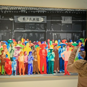 54 A visitor takes a picture of an exhibit provided by Centre Pompidou, AFP PHOTO.