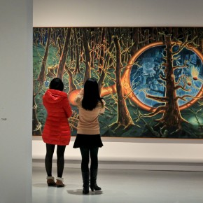 55 Visitors gather to admire the latest exhibits by Centre Pompidou, AFP PHOTO.