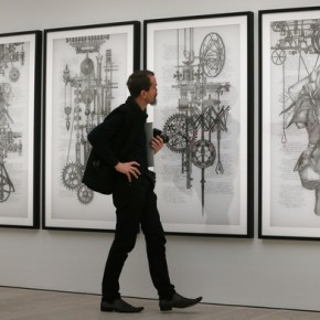 A visitor looks at artist Angela Su's 'Deliver me from all my automatic reactions and restore me to my true freedom'; Photo Courtesy: Peter Macdiarmid/Getty Images Europe