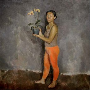 """Cai Ning, """"A Girl with a Orchid"""""""