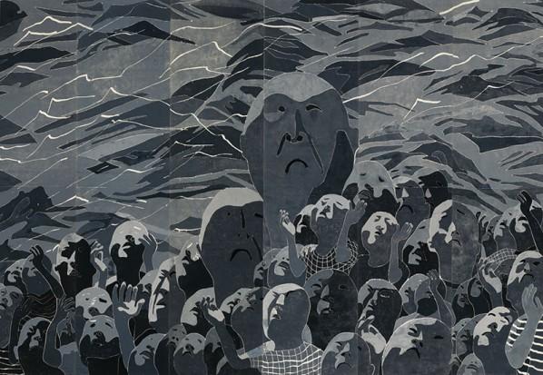 Fang Lijun, 1999.3.1, 1999; print, 484x726cm