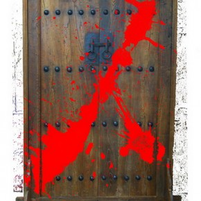 """Hong Yao, """"Concept- Be in Prison Closing the Door"""",installation, 210×130 cm, 2009"""