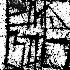 """Hong Yao, """"Lines of Ink"""", ink on paper, 480×240 cm, 2005"""