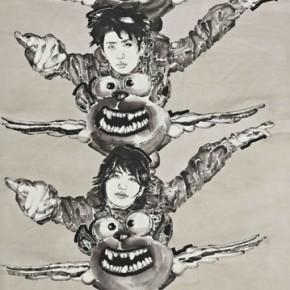"Huang Yihan, ""Cloudless"", 122×244 cm, ink on paper, 2011"