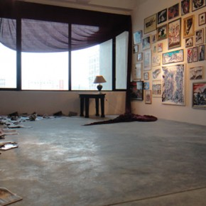 "Installation View of ""Last Night"" 01"