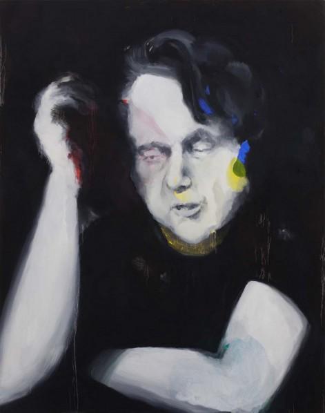 JIAN CE, Francis 01, 2012; Oil and acrylic on canvas, 150x120cm