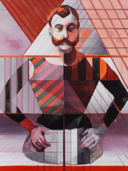 JIAN CE, Half-Man, 2012; Acrylic on Canvas, 160x120cm