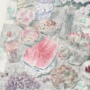 """Jiang Shiguo, """"Beautiful Life No.1"""", 220×145 cm, 2009"""