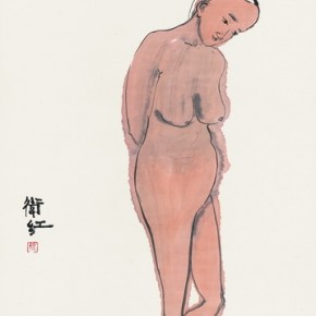 """Jin Weihong, """"Independence"""", ink on paper, 2012"""