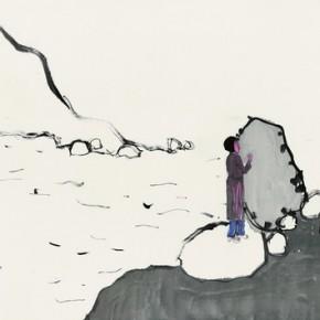 "Jin Weihong, ""Landscape"", ink on paper, 2012"