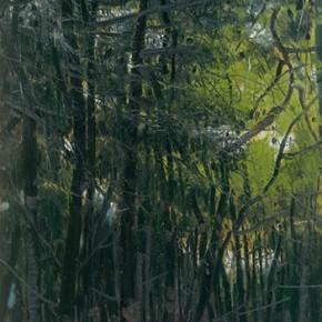 "Li Jiangfeng, ""All Manifestations of Nature - Pines I"", 2012; oil on canvas, 200×100cm"