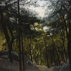 "Li Jiangfeng, ""All Manifestations of Nature - Whistling of the Wind in the Pines"", 2012; oil on canvas, 200×600cm"