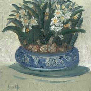"Li Jiangfeng, ""Fascinated Daffodils"", 2011; oil on canvas, 60×50cm"