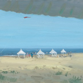 "Li Jiangfeng, ""Kiteflying"", 2012; oil on canvas, 50×60cm"